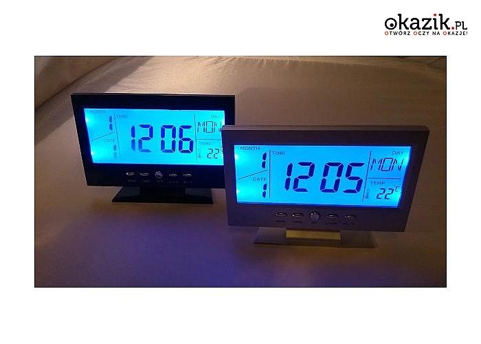 Biurkowy zegar z budzikiem idealny prezent dla każdego śpiocha