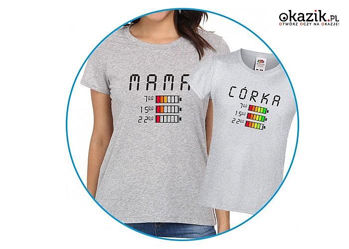 Uroczy zestaw koszulek dla mamy i córki zakochacie się w nich od pierwszego spojrzenia