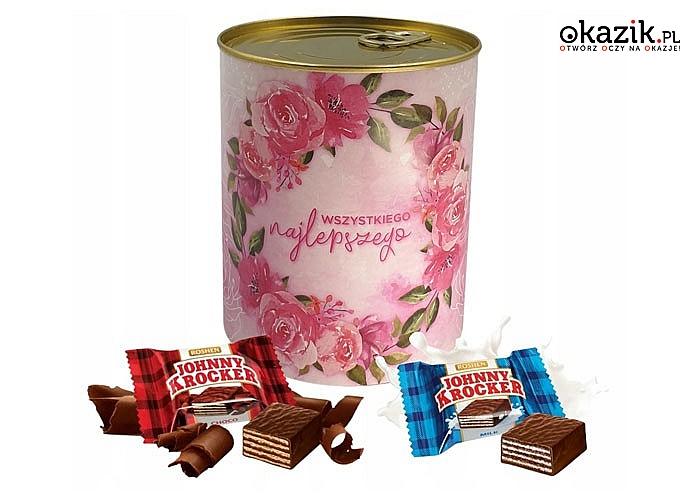 Puszka ze słodyczami Wszystkiego Najlepszego to świetna propozycja dla tych, którzy lubią zaskakiwać