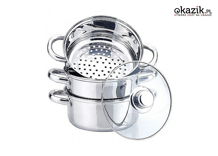 Warstwowy garnek do gotowania na parze to gwarancja smacznych i zdrowych posiłków