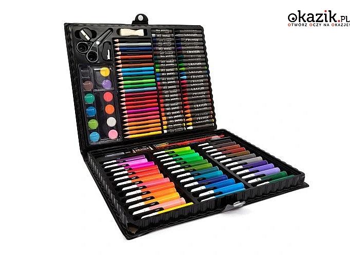 Zestaw artystyczny do malowania w walizce! Idealny prezent dla dziecka!