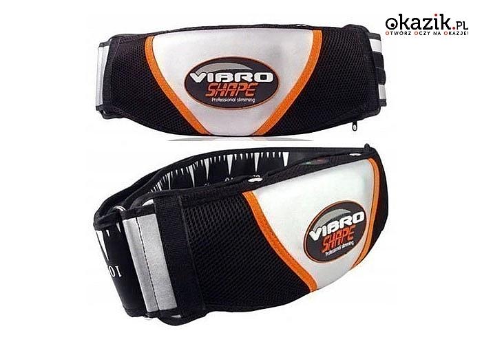 Wyszczuplający pas VIBRO SHAPE doskonale wymodeluje talię, brzuch, pośladki i uda