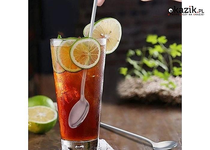 Łyżeczka koktajlowa sprawi, że serwowane przez nas napoje będę prezentować się oryginalnie i stylowo