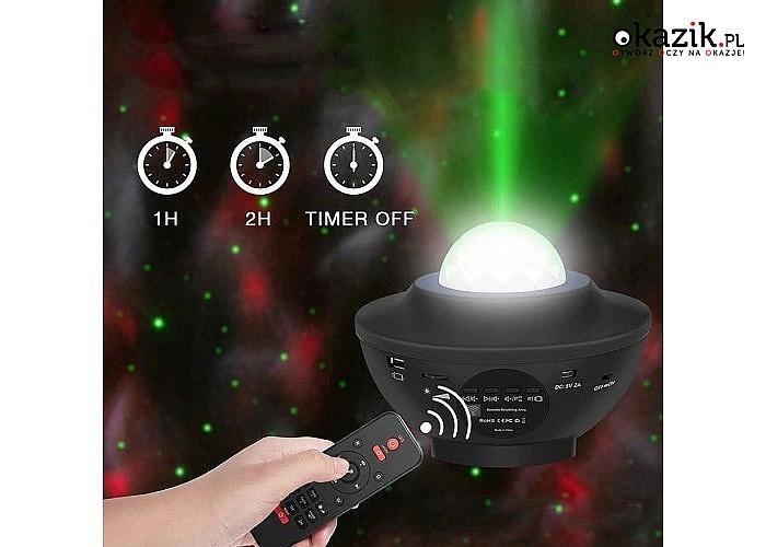 Projektor gwiazd pomoże Ci stworzyć wspaniałą galaktykę zorzy polarnej w Twoim domu