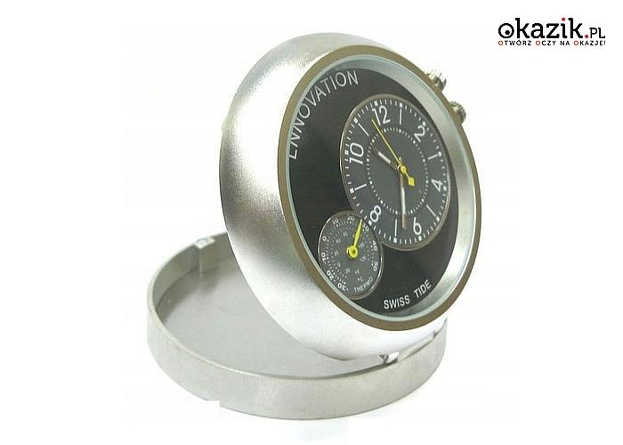 W pełni funkcjonalny zegarek wskazówkowy z ukrytą kamerą i termometrem!