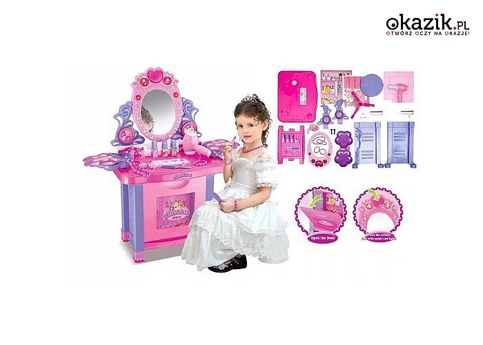 Wymarzony prezent dla każdej dziewczynki! Toaletka z wieloma akcesoriami w zestawie!