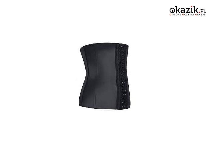 Gorset modelujący waist trainer idealnie podkreśli talię i odejmie kilka cm w obwodzie