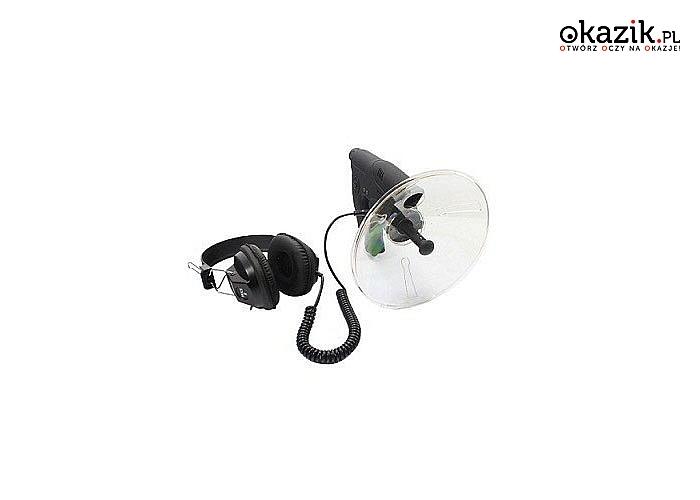 NOWOŚĆ! Mikrofon kierunkowy! Możliwe jest słuchanie dźwięków mających swoje źródło w odległości do 100M!