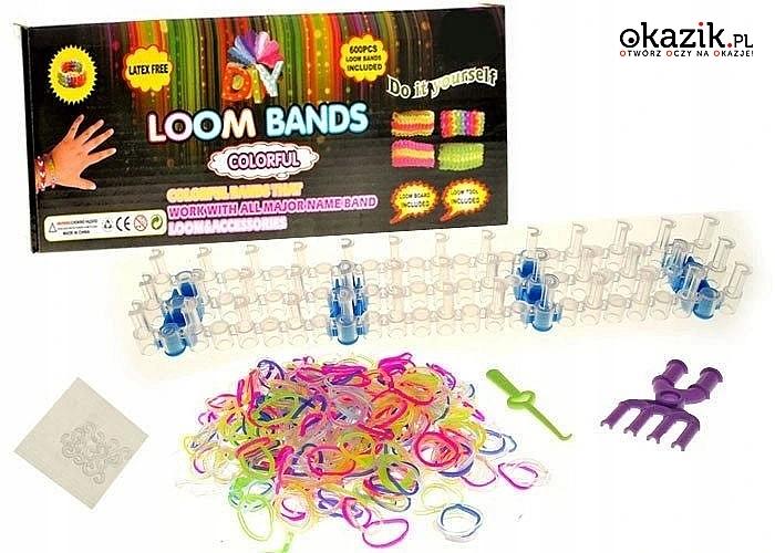 Gumki do bransoletek Loom Bands , duży zestaw 2500 szt lub 6000 szt
