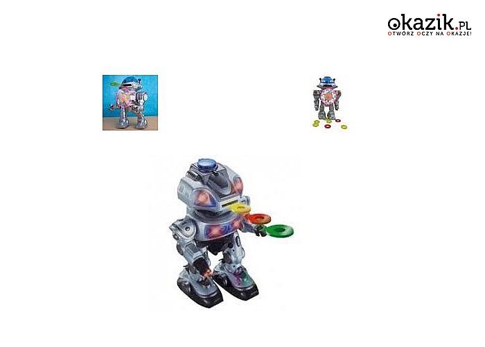 Chodzący robot z efektami świetlanymi i dźwiękowymi, idealna zabawka dla małych miłośników techniki