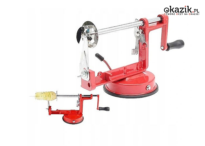 Maszynka ręczna do robienia zakręconych frytek to idealne i bardzo przydatne urządzenie w każdej kuchni