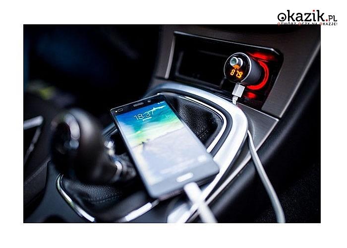 Umil sobie jazdę samochodem słuchając ulubionej muzyki, dzięki transmiterowi bluetooth