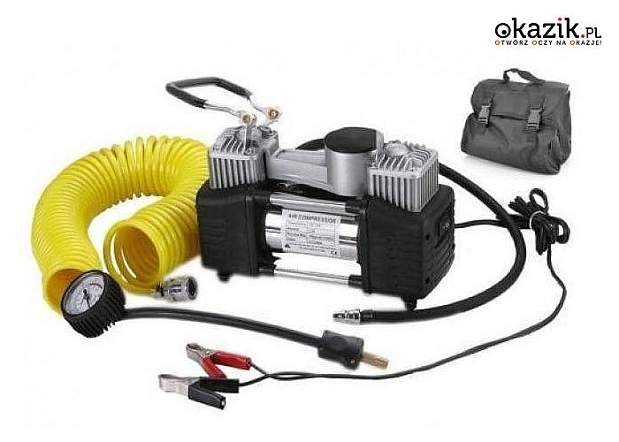 Kompresor samochodowy Onex OX -1010 12V niewielki rozmiar, wielka moc