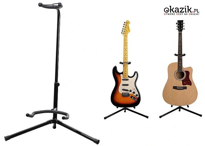 Statyw gitarowy świetny pomysł na prezent dla każdego gitarzysty