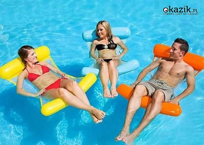 Materac świetnie sprawdza się w upalne dni zarówno nad jeziorem jak i na basenie
