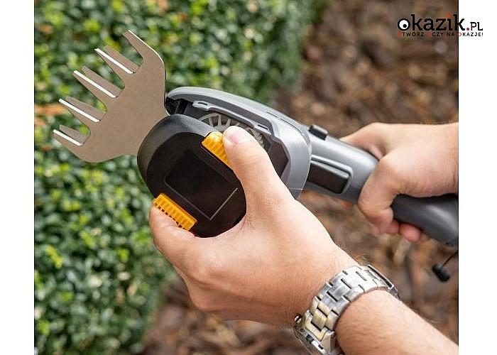 Akumulatorowe nożyce do trawnika i krzewów to niezastąpione narzędzie podczas pracy w ogrodzie