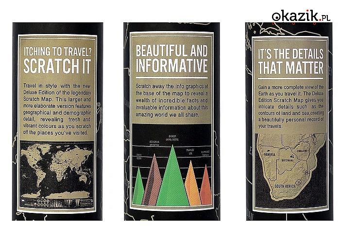 Zaznacz miejsca, w których już byłeś! Mapa świata dla podróżnika w postaci zdrapki!