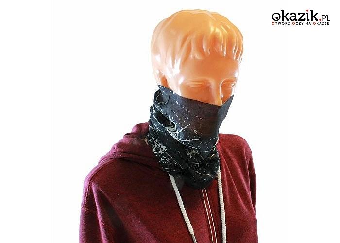 Bandana doskonale nadaje się do ochrony twarzy przed zimnem i wiatrem podczas każdej aktywność na zewnątrz