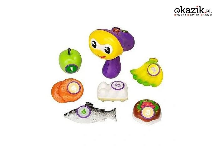 Interaktywny skaner mówi po polsku, pomocny w nauce kolorów, cyferek, literek oraz rozpoznawania artykułów spożywczych