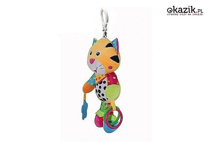 Pluszowa zabawka pobudzi wyobraźnię dziecka i jego zmysły, zainteresuje je wspaniałą zabawą, która pomoże mu w rozwoju