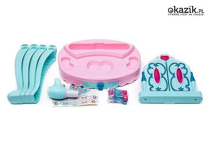 Toaletka dla dziewczynki! Otwierane lustro, kosmetyki oraz akcesoria fryzjerskie w zestawie!
