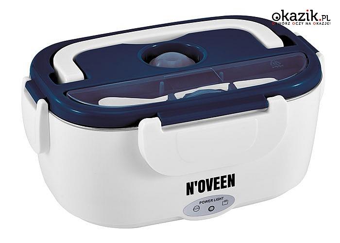 Elektryczny Lunch Box Noveen z torbą termiczną sprawdzi się w domu, biurze i podróży