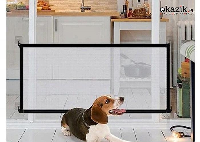 Przegroda dla psa zapobiega niepożądanemu wchodzeniu Twojego psa do wybranych pomieszczeń w domu