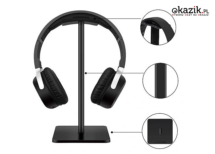 Uniwersalny stojak pozwoli zadbać o nasze słuchawki by przedłużyć ich żywotność
