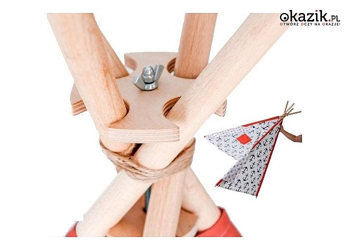 Drewniany stabilizator do namiotu tipi! Usztywnia konstrukcję, utrwala kształt namiotu oraz podnosi bezpieczeństwo!