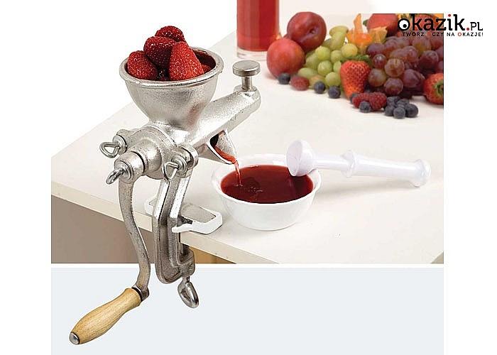 Ręczna wyciskarka do warzyw i owoców zapewnia sok z maksymalną ilością witamin i minerałów
