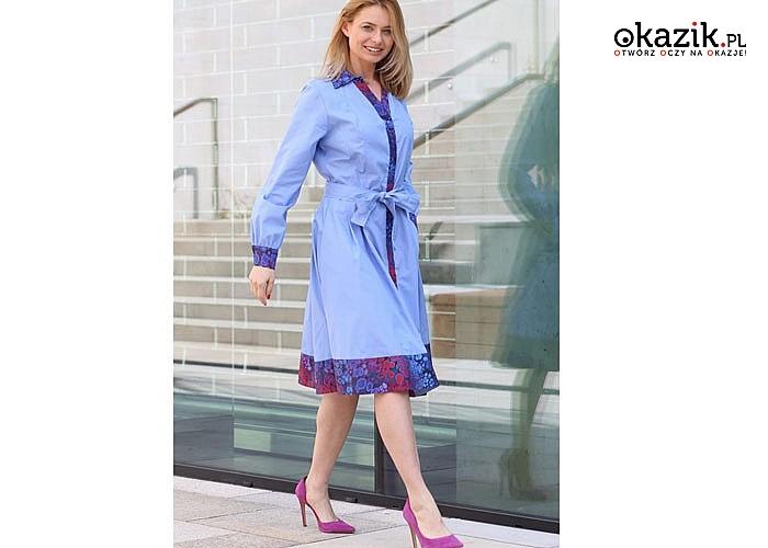 Sukienka - Szmizjerka z płótna zachwyci każdego pasjonata mody to niebanalna propozycja na wiele okazji