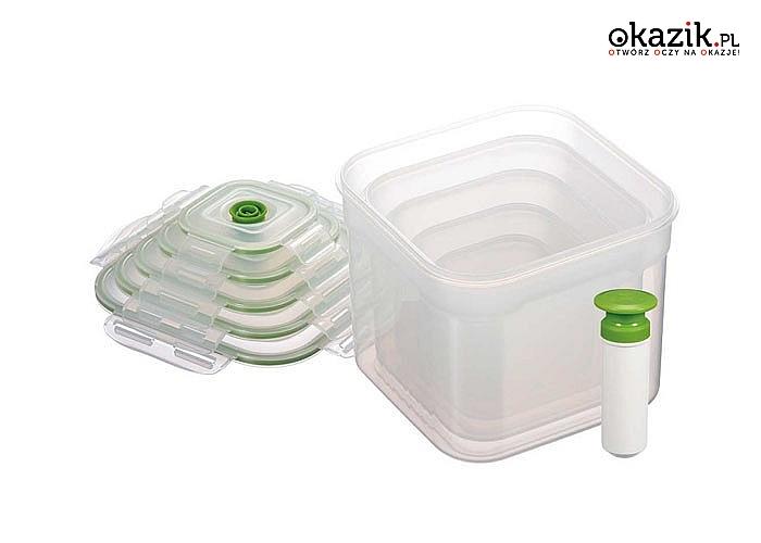 Pojemniki próżniowe to doskonały sposób na przechowywanie żywności, pozwalający na dłużej zachować jej świeżość