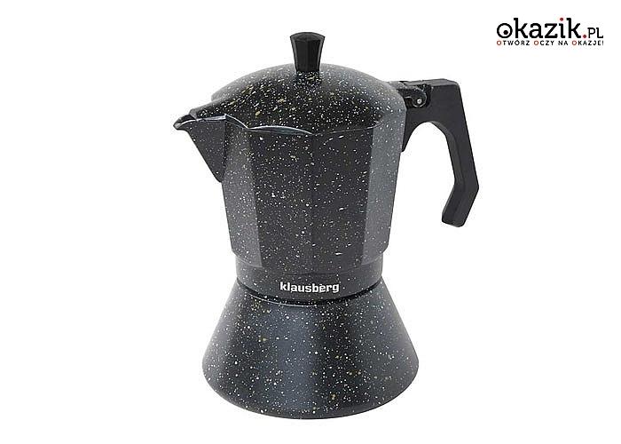 Kafetierka / Kawiarka / ciśnieniowa. Gustowna i tradycyjna kawiarka do zaparzania kawy typu włoskiego