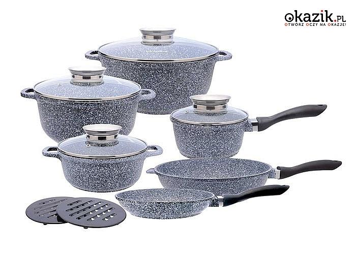 Wyjątkowo nowoczesny i funkcjonalny zestaw garnków, który znakomicie odnajdzie się w każdym wnętrzu kuchennym