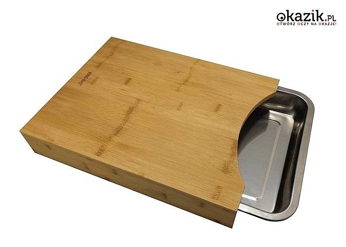 Deska kuchenna z wysuwanym pojemnikiem. Doskonała do przygotowywania i serwowania posiłków