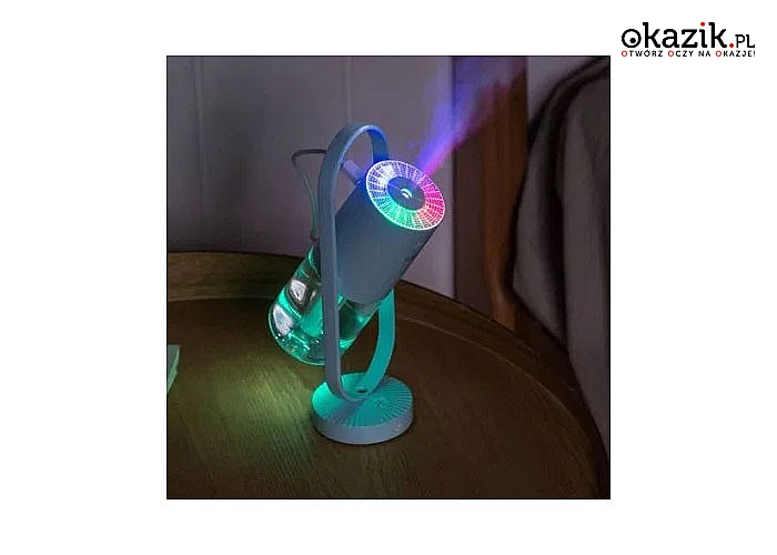Nawilżacz powietrza i dyfuzor zapachu 2w1, czyni to urządzenie prawdziwie doskonałym
