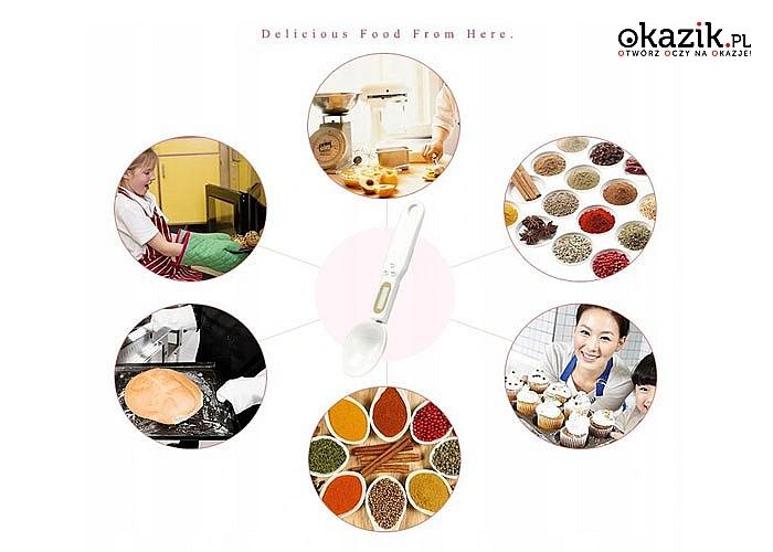 Dokładna waga elektroniczna w kształcie łyżeczki przydatna w każdej kuchni
