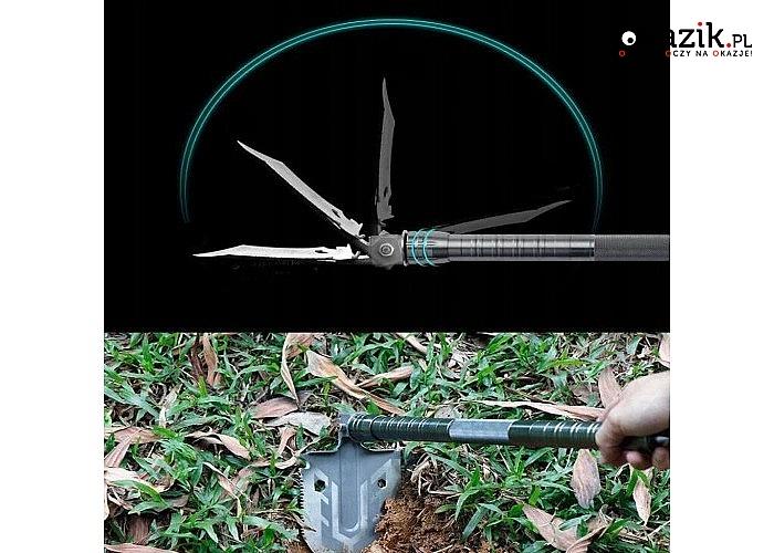 Profesjonalna łopata taktyczna,  saperka 16w1 niezastąpiona na każdej wyprawie survival