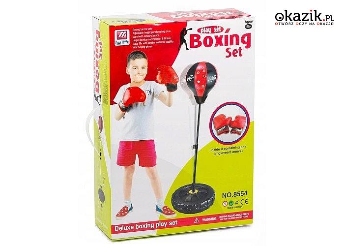Zestaw bokserski to świetna zabawka na prezent dla każdego młodego sportowca