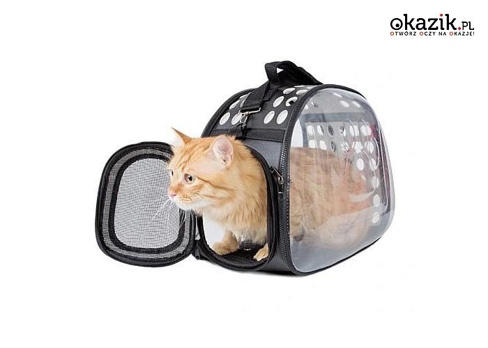 Torba transportowa, dzięki której w bezpieczny i komfortowy sposób przeniesiesz swojego kochanego pupila
