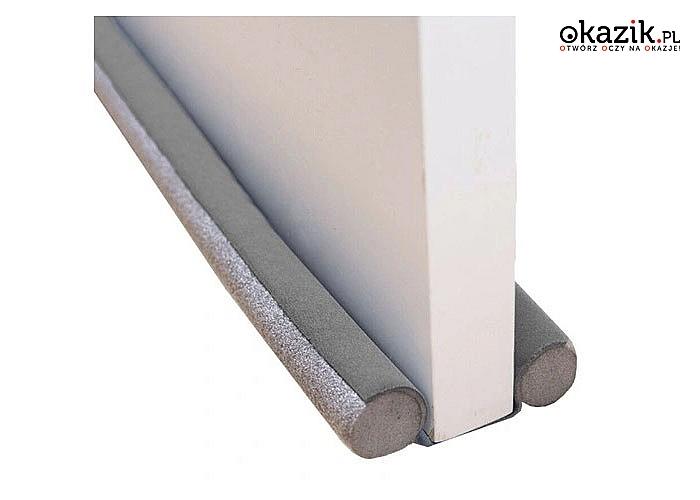 Dwustronna uszczelka zabezpieczająca przed przeciągiem i utratą ciepła, zapewnia również świetną izolację akustyczną