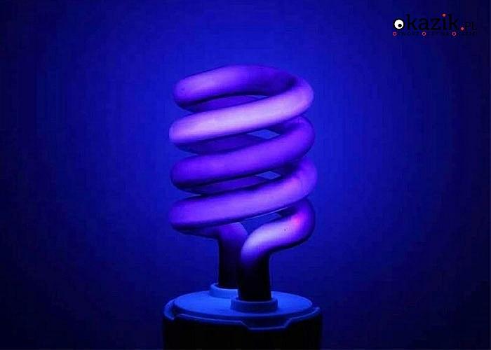 Spiralna żarówka UV posiada niezwykle wiele zastosowań