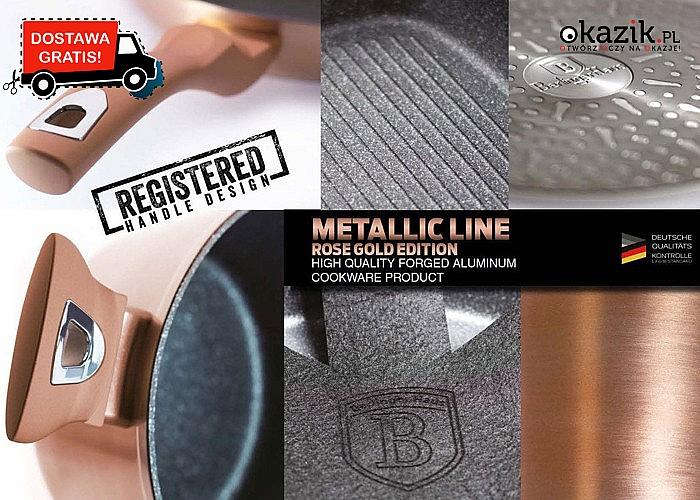Zestaw garnków granitowych łączy w sobie estetyczny design z wysoką funkcjonalnością