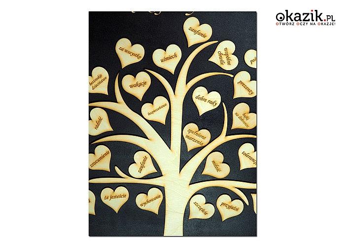 Drzewo z podziękowaniami dla rodziców! Personalizowane! Idealny pomysł prezent! Precyzyjne wykonanie!