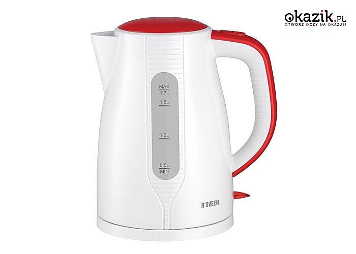 Czajnik elektryczny EK1303 Red to szybkie i proste gotowanie wody