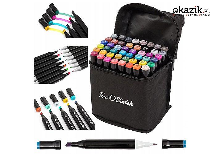 Dwustronne markery alkoholowe Touch Cool! Do wyboru 48 lub 80 sztuk!