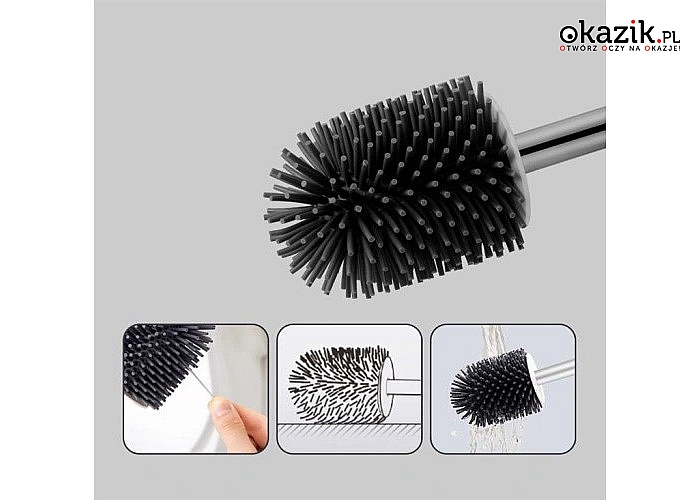 Szczotka silikonowa - zadbaj o nowoczesny design oraz higienę w Twojej toalecie
