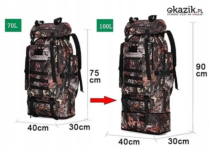 Plecak w wojskowym stylu będzie idealnym kompanem dla entuzjastów spędzania czasu na świeżym powietrzu