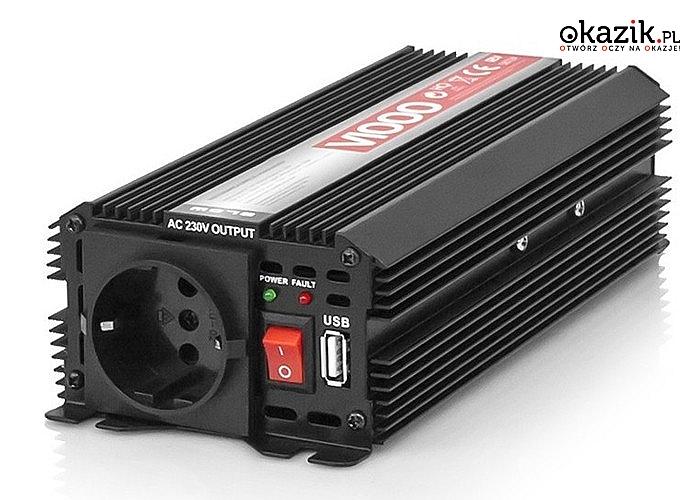 Elektroniczna przetwornica napięcia BLOW idealna do samochodu, doskonałe rozwiązanie w podróży czy na campingu