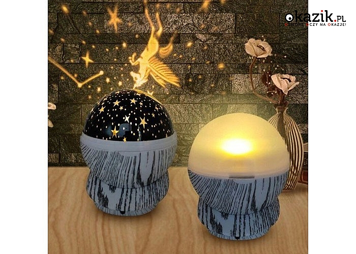 Lampka nocna z projektorem gwiazd zapewni subtelne światło i ukoi każdego do spokojnego snu